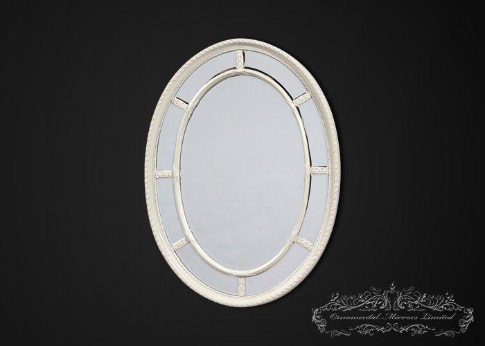 Popular White Oval Wall Mirror CJ73