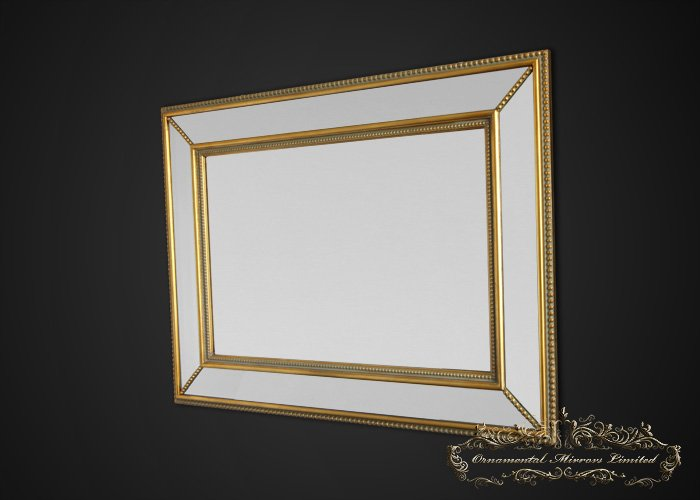 Gold Metal Wall Mirror: Decorative Mirror From Ornamental Mirrors Limited