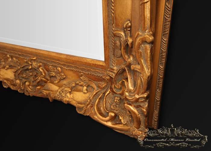 Large Gold Frame Mirror: Large Gold Framed Mirror From Ornamental Mirrors Limited
