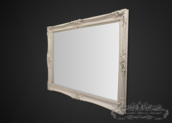Bellagio large cream ornate mirror from ornamental mirrors for Extra large mirrors