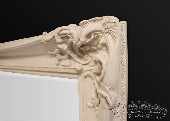 Bellagio Large Cream Ornate Mirror From Ornamental Mirrors