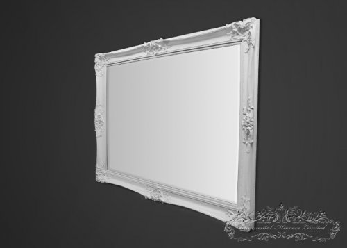 Bellagio Large White Ornate Mirror
