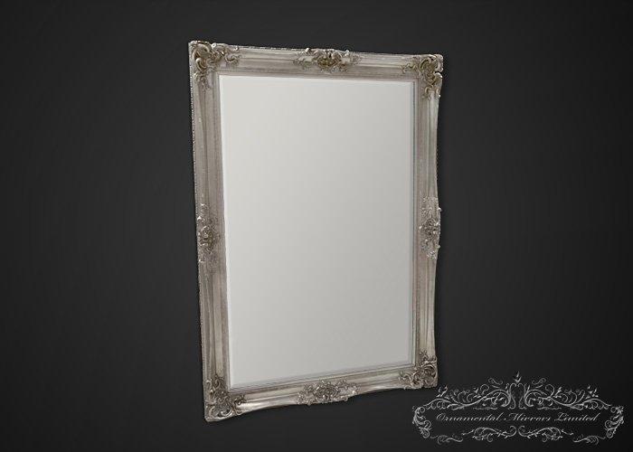 Bellagio Silver Ornate Mirror