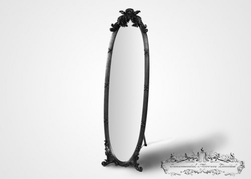 Black French Dressing Mirror