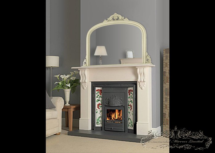 Ivory Over Mantel Mirrors Cream Over Mantel Mirrors From