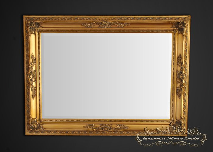 Ornate gold framed mirror for Gold wall mirror