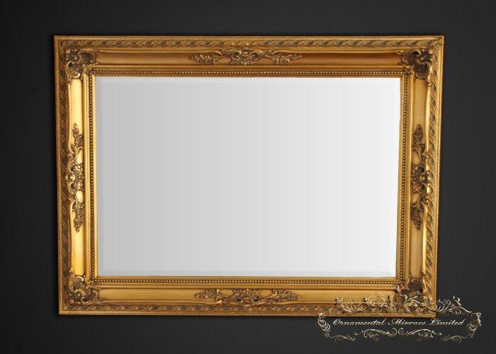 Ornate gold framed mirror for Ornate mirror