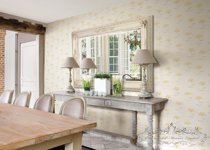 Beautiful Cream Ornate Wall Mirror ME68