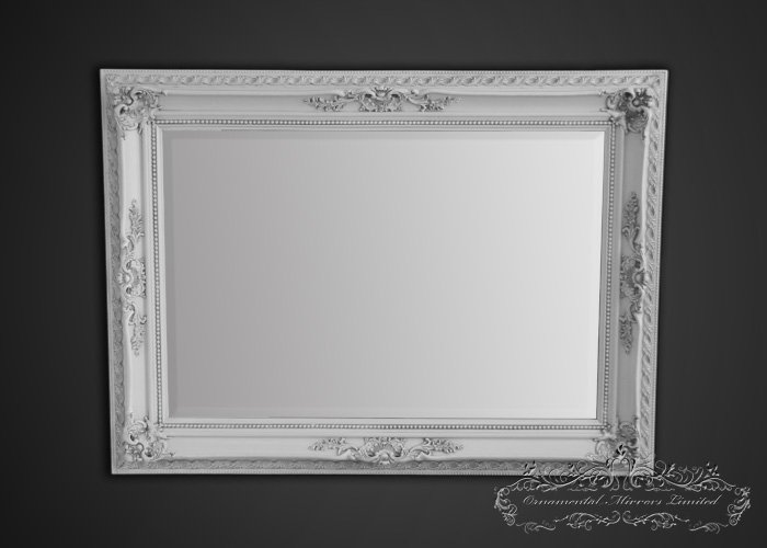 Ornate white framed mirror for White framed mirror