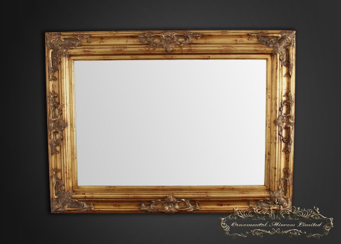 Traditional Ornate Gold Mirror