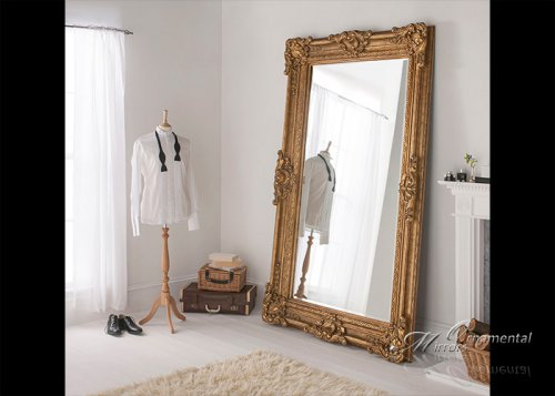 Gold mirrors gold wall mirrors for Extra large mirrors