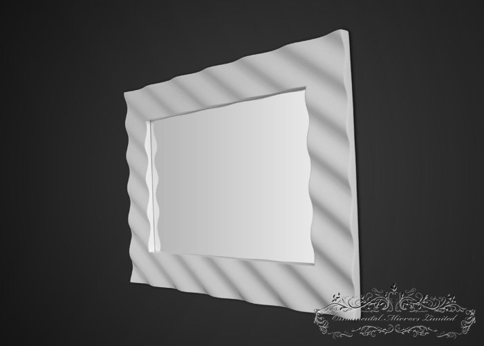 Corrugated Modern Gloss Mirror From Ornamental Mirrors Limited