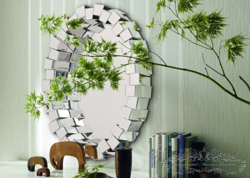 Cubicle Multi Faceted Mirror