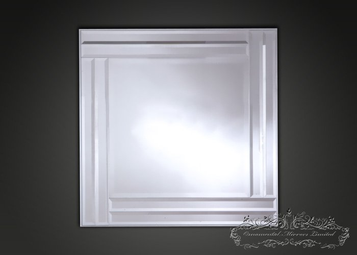 ... square decorative wall mirror with silver frame from Ornamental Mirrors  Limited 96fdbcd8cd7
