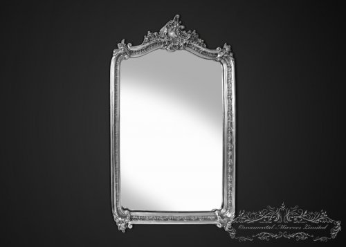 Edward French Style Silver Mirror