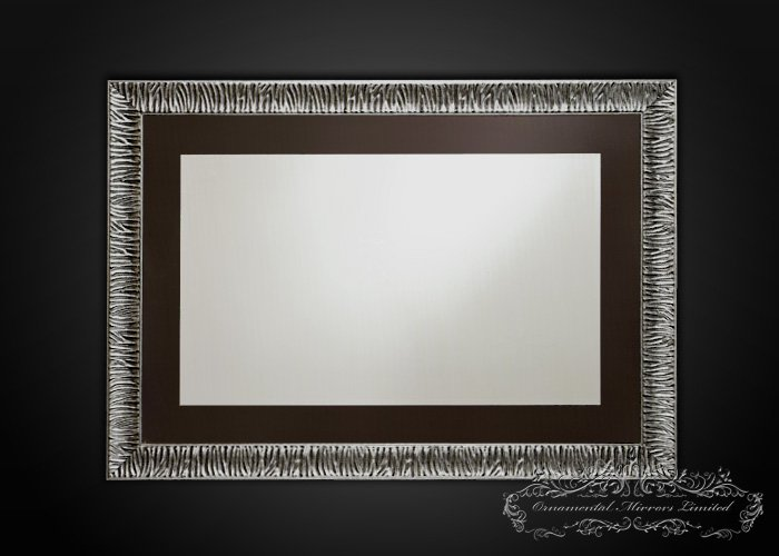 Black Glass Framed Mirror