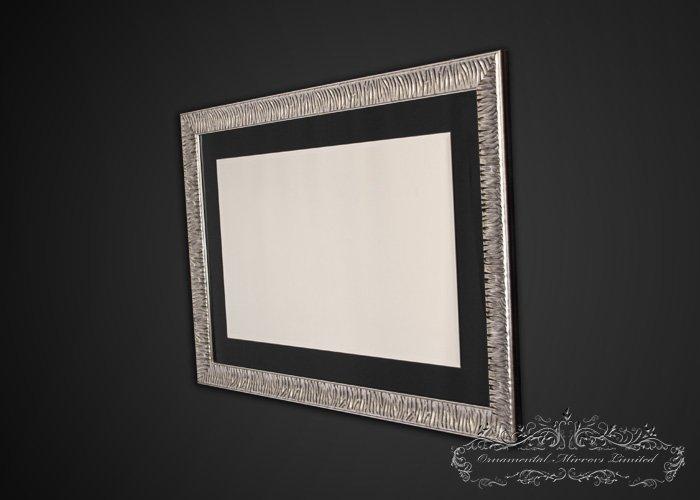 Black Glass Framed Mirror