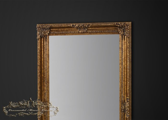 Large Round Gold Mirror: Extra Large Antique Mirror