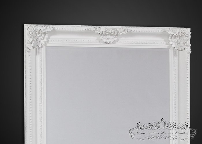 Extra large white mirror ornate white mirror for Large white mirror
