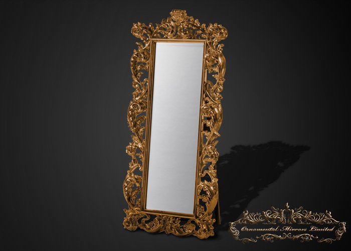 Emperor Gold Free Standing Full Length Mirror