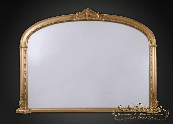 Gold overmantel mirror gold floor standing mirror from for Gold floor standing mirror