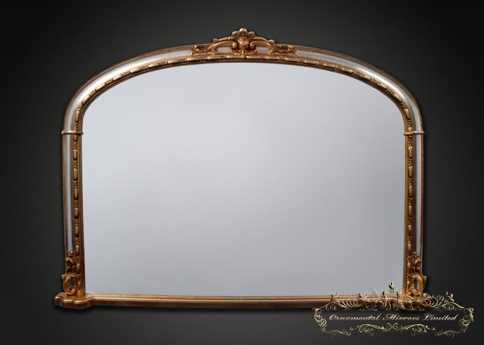 Silver Gold Overmantel Mirror From Ornamental Mirrors Limited