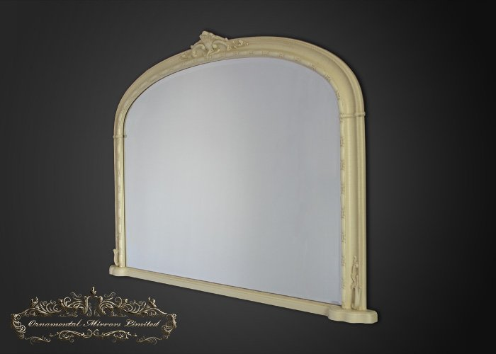 Ivory over mantel mirrors from ornamental mirrors limited for Mantel mirrors