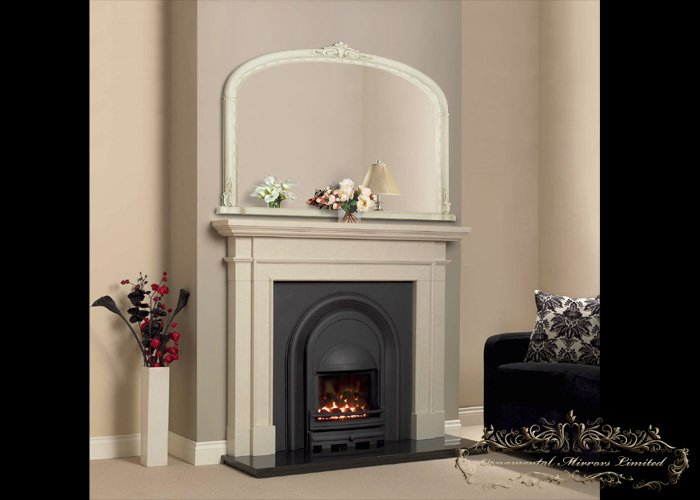 Ivory over mantel mirrors from ornamental mirrors limited for Mirror over mirror