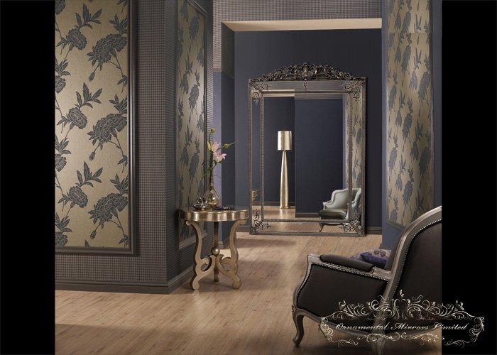 Large Floor Standing Mirror Silver Large Floor Standing
