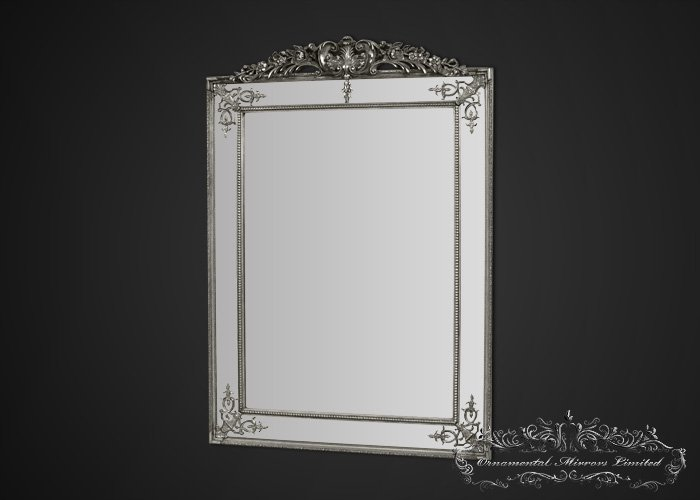 Large Floor Standing Mirror Silver Large Floor Standing