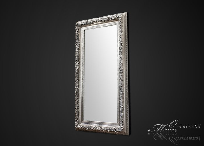 Silver leaner mirror large silver wall mirror for Leaner mirror