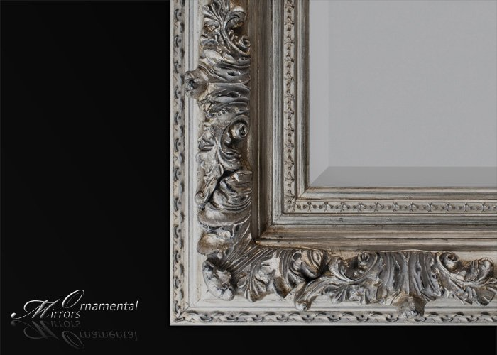 Silver Leaner Mirror : large silver wall mirror