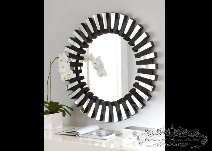 Round glass wall mirror for Glass mirrors for walls