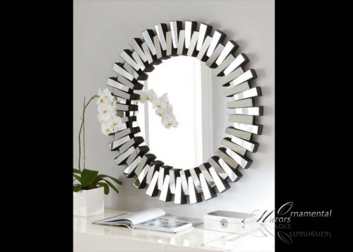 Impact Round Glass Wall Mirror