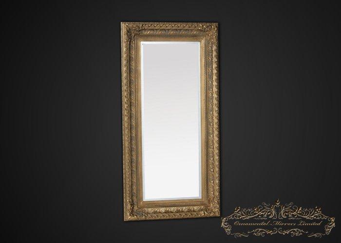 Large Gold Frame Mirror: Large Antique Gold Framed Mirror