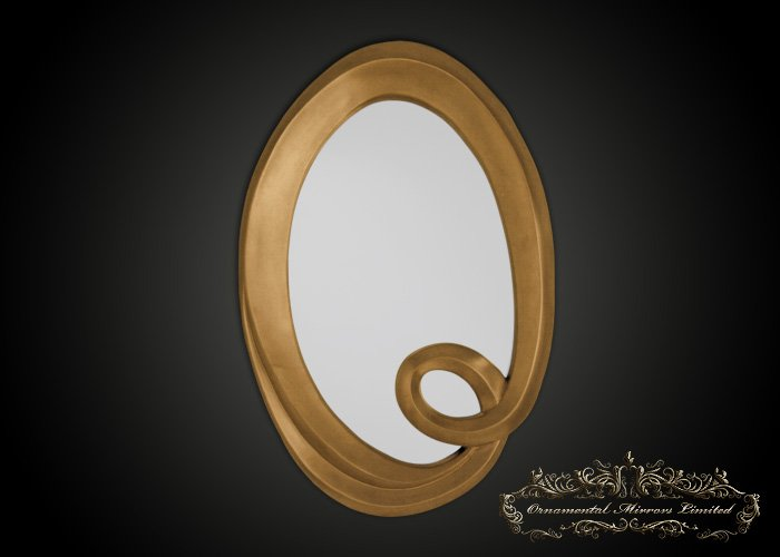 Large Gold Oval Mirror From Ornamental Mirrors Limited