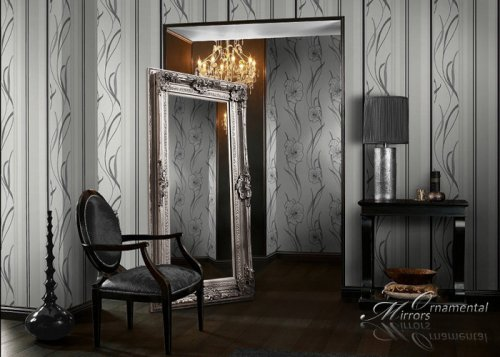 Le Grande Large Silver Floor & Wall Mirror