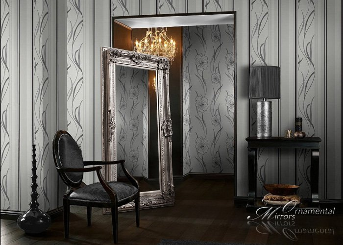 Large Silver Floor Mirror \\ Large Silver Wall Mirror
