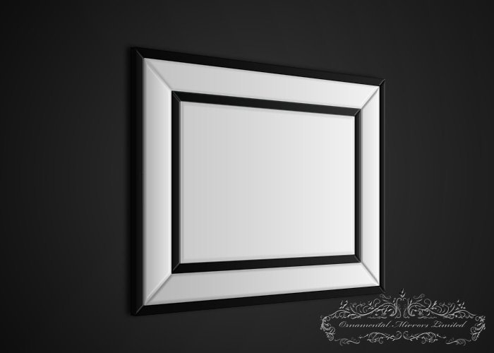 Black Glass Framed Mirror Black Edged Mirror