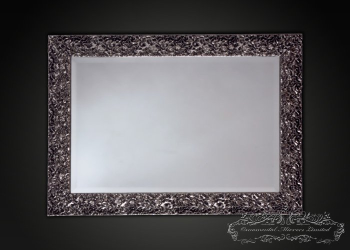 Modern Rectangular Silver Wall Mirror From Ornamental