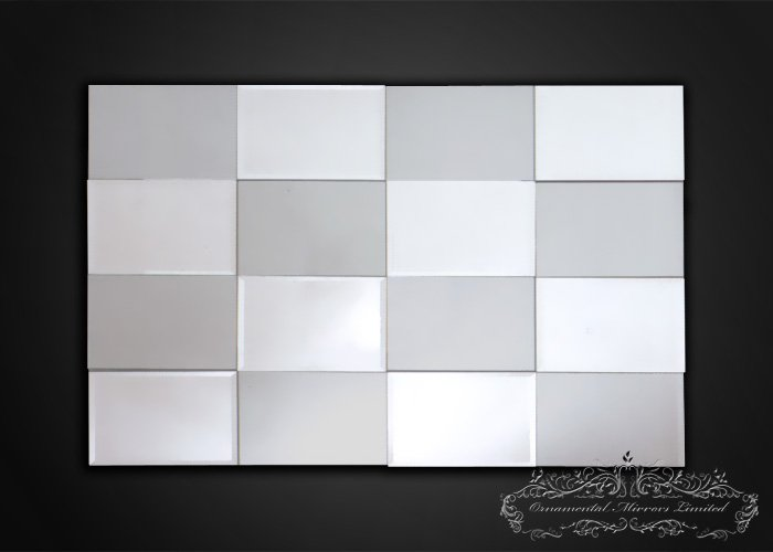 Silver Tinted Tiled Multi Facial Mirror
