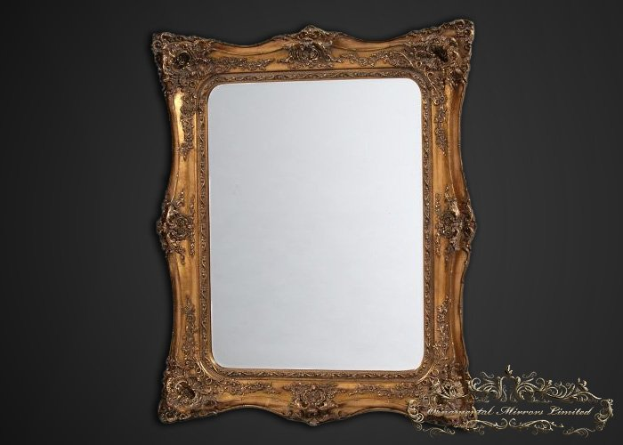 Opulance gilt rococo mirror for What is a gilt mirror