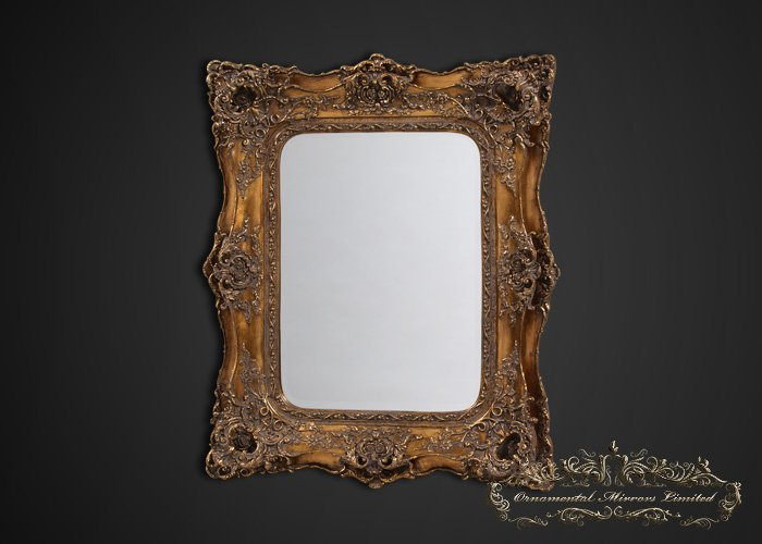 Opulance Gold Rococo Wall Mirror