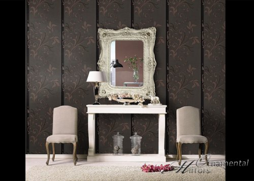 Gallery for Floor mirror italian baroque rococo style in lacquer finish