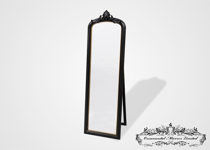Ornate Black Mirror With Stand From Ornamental Mirrors Limited