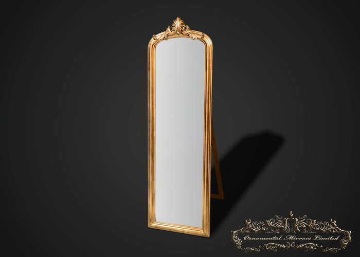 Ornate gold mirror with stand from ornamental mirrors limited for Gold standing mirror