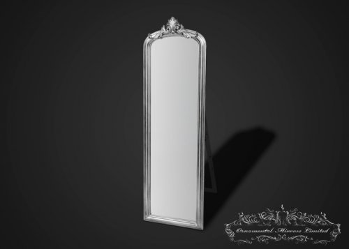 Ornate Silver Mirror with Stand