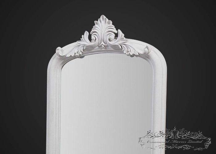 Ornate White Mirror With Stand From Ornamental Mirrors Limited