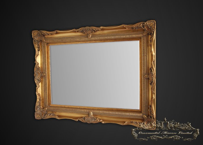 Classic gold ornate mirror from ornamental mirrors limited for Ornate mirror