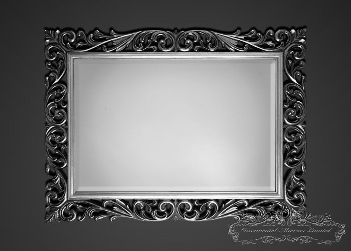 Silver Black Ornamental Mirrors From Ornamental Mirrors
